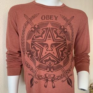 Obey XL thermal shirt